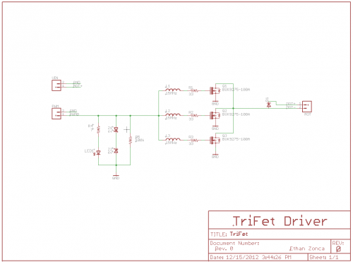 TriFet Motor Driver Schematic