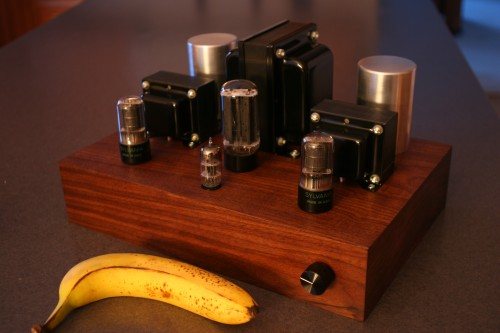 DIY Tube Amplifier (banana for scale)
