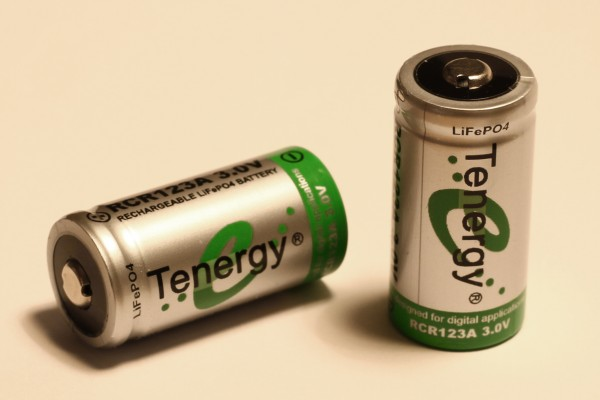 Tenergy LiFePO4 CR123 Cell Test